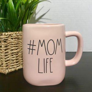 NEW Rae Dunn MOM LIFE pastel pink coffee mug